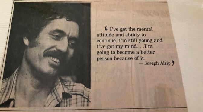 Joe Alsip released in Ventura 1982